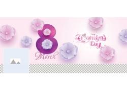 立体花朵38女人节海报