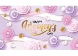 立体花朵三八妇女节