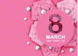 粉色花朵38女人节海报