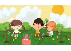 植树节卡通插画 (19)