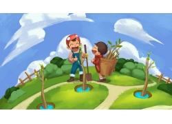 植树节卡通插画 (8)