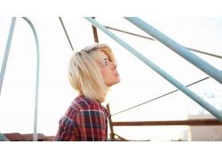 人,模型,Alysha Nett,金发,妇女,抬头看21210