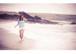 人,模型,简单的背景,妇女,海滩,户外的女人67777