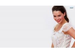 人,艾米莉亚克拉克,微笑,白色背景,演员,妇女,模型10306