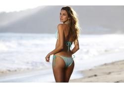 人,游泳衣,海滩,比基尼泳装,妇女,屁股,户外的女人,在户外,模型64