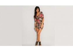 人,连衣裙,黑发,约翰娜隆德贝克,模型,简单的背景,妇女67602