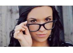 人,眼镜,黑发,帽子,戴眼镜的妇女,面对,棕色的眼睛29529
