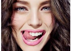 人,妇女,面对,舌头,眼睛,舔,肖像,艾米丽DiDonato16721