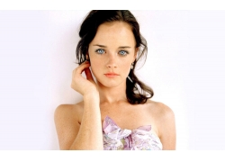 人,妇女,面对,雀斑,蓝眼睛,黑发,演员,白色背景,简单的背景,裸露