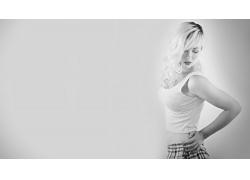 人,德文翡翠,妇女,金发,单色,简单的背景,模型,长发5047
