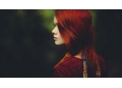 人,拉斯,妇女,红发,户外的女人,景深,黥,面对,轮廓56476