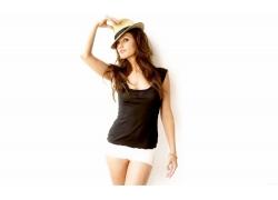 人,帽子,妇女,黑发,模型,白色背景1175