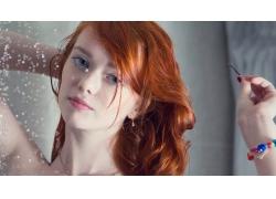 人,拉斯,红发,妇女,模型,蓝眼睛,明星,手镯,面对71371