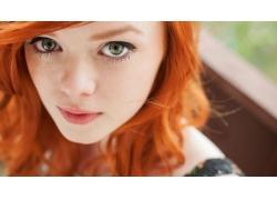 人,拉斯,黥,红发,妇女,模型,面对,明星63840