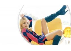 人,凯特博斯沃思,连衣裙,靴子,演员,腿,妇女,模型,椅子,看着观众5