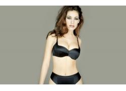 人,凯莉布鲁克,女用贴身内衣裤,妇女,黑色内裤,模型55049