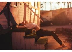 人,婦女,模型,戶外的女人,日落,閉著眼睛,陽光,城市的38410