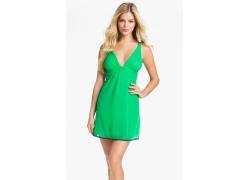 人,妇女,金发,Danielle Knudson,绿色的衣服,双手放在臀部,长发,