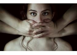 人,FTV女孩杂志,妇女,面对,眼睛,手,模型,裸露的肩膀61098