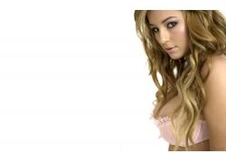 人,Keeley Hazell,胸罩,金发,长发,妇女,模型,看着观众55048