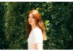 人,歌手,名人,妇女,拉娜德尔雷,红发,户外的女人,看着观众,长发,
