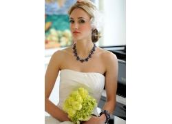 人,娜奥米凯尔,婚纱礼服,金发,裸露的肩膀,手镯,钢琴,妇女,白色礼