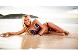 人,比基尼泳装,alana blanchard,户外的女人,美女,微笑56332