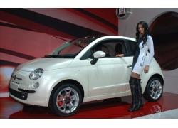 人,汽车,promomodels,FIAT,车辆,美女,汽车的美女,靴子,白色汽车2