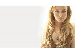 人,海登潘妮蒂尔,名人,美女,看着观众,简单的背景,长发,项链25615