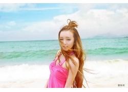 人,美女,海滩,长发,模特30490