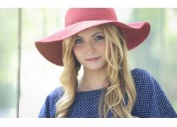 人,美女,金发,帽子,模特,长发30509