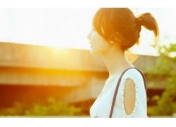 人,美女,亞洲,戶外的女人,陽光,輪廓29713