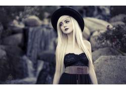 人,美女,帽子,模特,长发56363