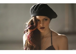 人,嘴唇,帽子,美女,染过的头发,有趣的帽子,模特,红唇膏,面对,凯