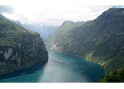 河,景觀,山,水,丘陵,斯特蘭達,蓋朗厄爾22809