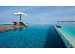 游泳池,假期,夏季,热带,海,采取,水,马尔代夫,海滩,景观193297