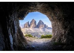 景觀,山,洞穴209172