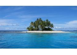 岛,棕榈树,海,景观,海滩178426