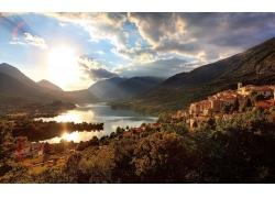建筑,景觀,山,意大利,天空,云,巴雷亞(意大利)24218