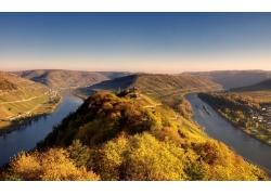 河,峽灣,景觀,樹木,山157123