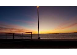 阿根廷,火地島,景觀,早上,海,天空244410