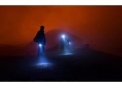 景觀,薄霧,燈籠,人,俄國,紅,燈火,晚間,徒步旅行244192