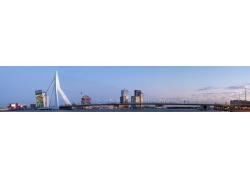 河,景觀,市,鹿特丹,荷蘭人,荷蘭,荷蘭,橋,水,天空,歐洲,全景36217