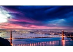 景觀,城市的,金門大橋,舊金山292343