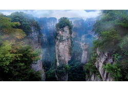 景觀,薄霧,國家公園,山,懸崖,阿凡達,早上,中國,湖南325719