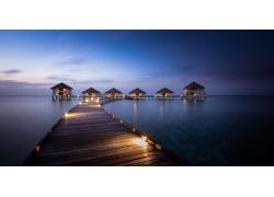 馬爾代夫,采取,人造燈,走道,海,海灘,平房,藍色,熱帶,夏季,景觀19