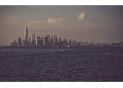 市容,景觀,海,建造,紐約市,美國65280