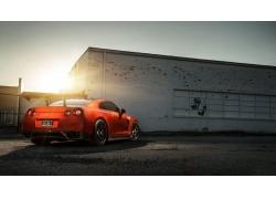 红色的汽车,车辆,汽车,日产,日产GTR394410