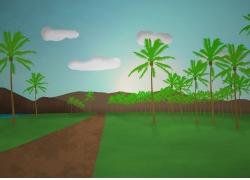 景观,棕榈树,简单327517