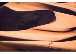 攝影,環境,景觀,人,步行,砂,沙丘,沙丘690822